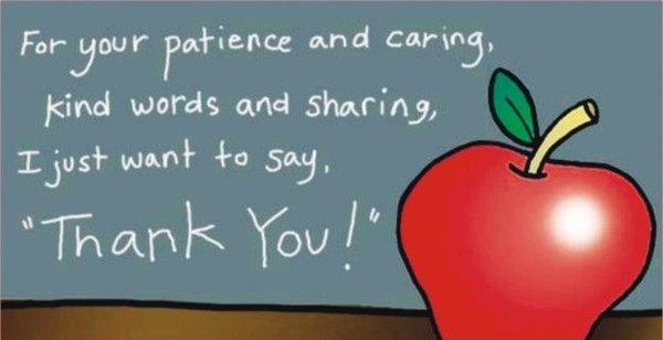 "Gratitude quotes For your patience and caring, kind words and sharing, ""Thank You""."
