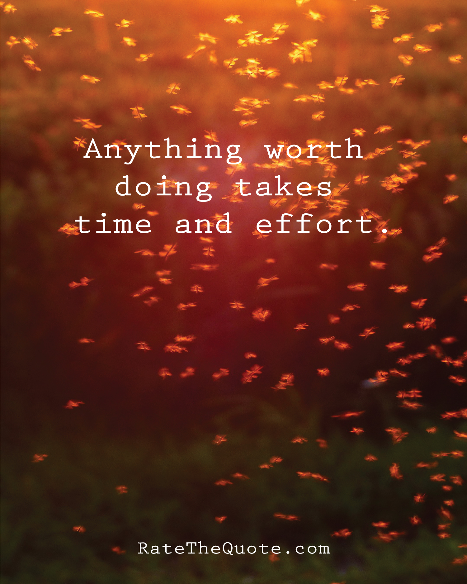 Anything worth doing takes time and effort.