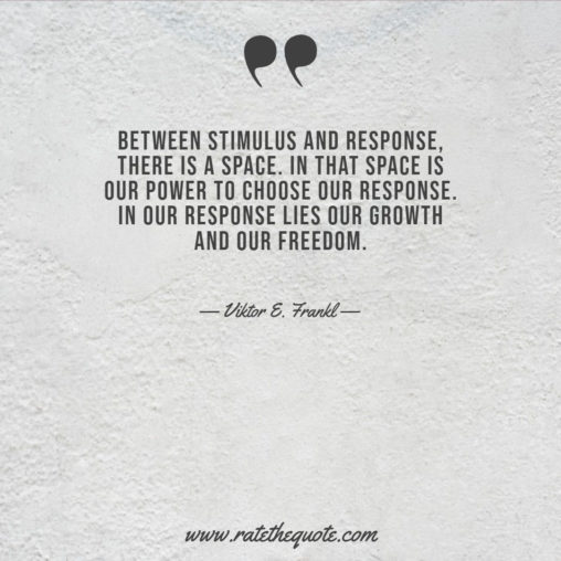 Between stimulus and response, there is a space. In that space is our power to choose our response. In our response lies our growth and our freedom.