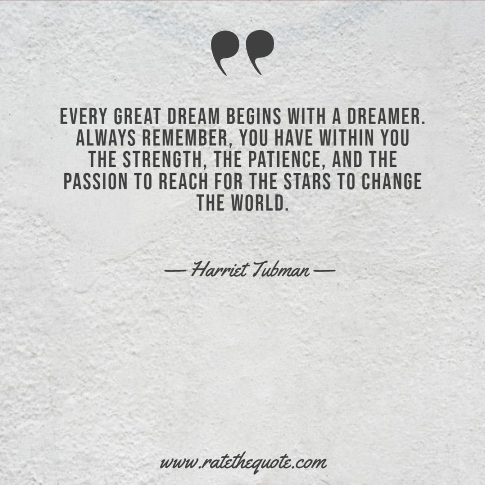 Every great dream begins with a dreamer. Always remember, you have within you the strength, the patience, and the passion to reach for the stars to change the world